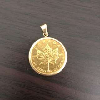 21k Gold pendant with 18k Gold chain - Japan gold