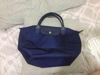🚚 Longchamp手提袋 海軍藍S