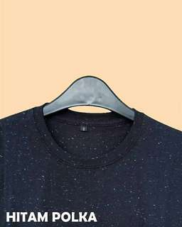 Tshirt Polos Hitam Polka