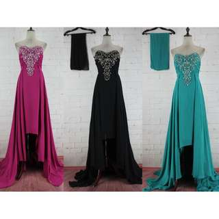Pre order black / turquoise pink blue diamond fishtail bodycon wedding bridal prom dress gown  RBP0761
