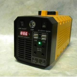 全新 500W 戶外電源 UPS 兩用 內置 288Wh 鋰電池 220V AC 12V DC USB 等輸出 戶外活動銷售適用