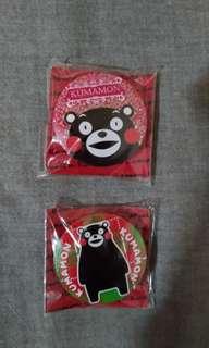 🚚 日本 熊本 熊磁鐵*2個