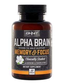 Alpha Brain By Onnit Labs, Advanced Brain Booster Nootropic 30 Capsules