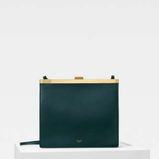 Celine clasp mini in dark green