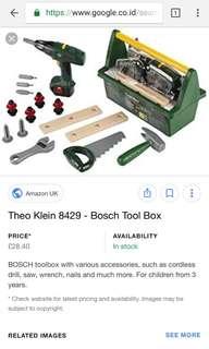 Mainan alat tukang (2 tool box bosch jadi 1)