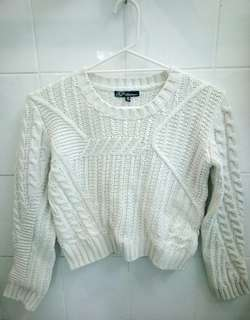 Cozy Off White Knit Sweater