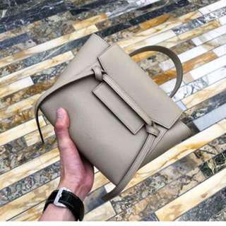 Celine nano belt bag in beige