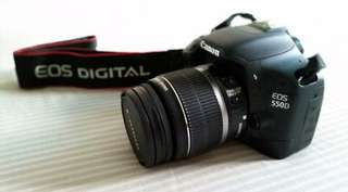 Canon 550d with 55-250mm lens