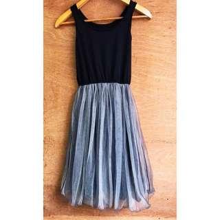 日本帶回🇯🇵精緻雙層紗網拼接洋裝/襯裙