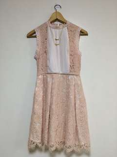 Vintage style pink lace dress