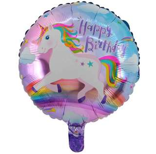 Unicorn party supplies - unicorn balloons