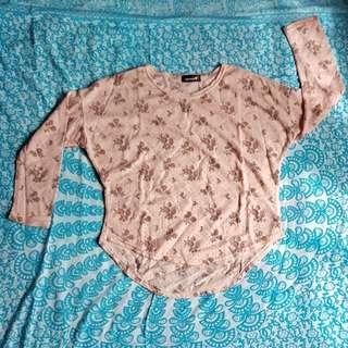 Pink roses longsleeve shirt