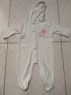 2 pcs of Sleepsuit for baby girl (0-6months)