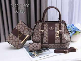 Coach 3 in 1 Tote Bags Coffee Color