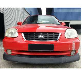 HYUNDAI ACCENT FRONT SKIRT