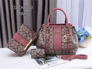 Coach 3 in 1 Tote Bags Pink Color