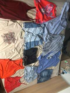 Assorted women's clothes- $15 or 2 for $10 seed, mink pink, sport girl , rollas,