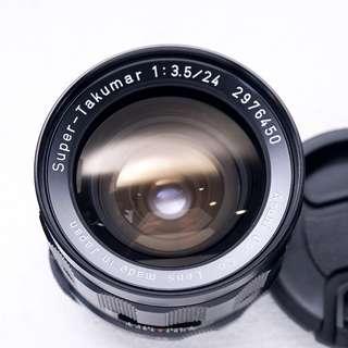 Pentax 24mm f3.5 M42 mount lens