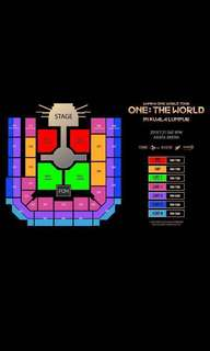 Wanna One World Tour KL Malaysia - CAT 1 incl delivery Kuala Lumpur. Checked with organiser.