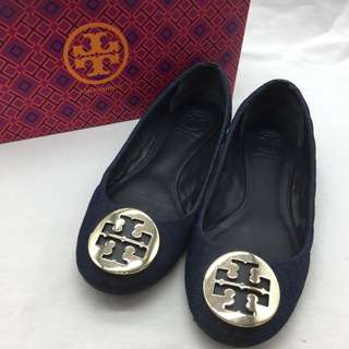 Tory Burch 牛仔布平底鞋 - Tory Burch Denim Flats