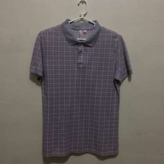 PENSHOPPE Semi Fitted Pink Gray Printed Polo Shirt