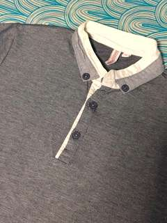 Penshoppe Gray Polo Shirt