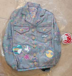 Smiggle Denim Jacket Backpack Rainbow Shine