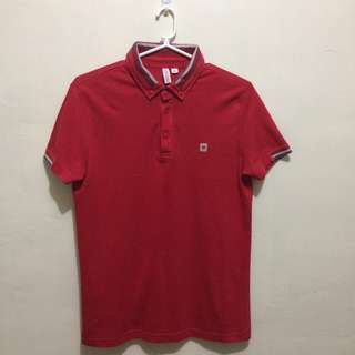 PENSHOPPE Semi Fitted Red Polo Shirt