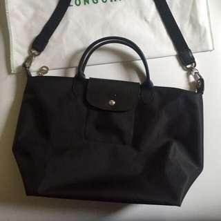L size Longchamp two ways bag