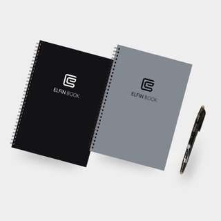 Elfin reusable notebook grey