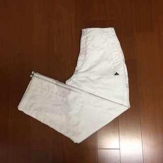 🚚 (size XL) Adidas 復古全白防風休閒褲 運動褲