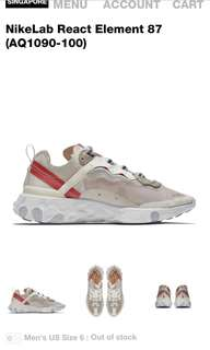 BUYING ALL NIKE REACT ELEMENT 87