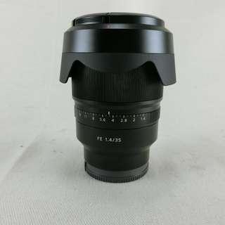 SONY ZEISS SEL35F14Z 35mm F1.4 ZA 大光圈標準廣角鏡頭 盒裝 公司貨