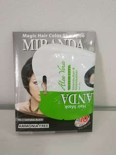 Miranda Hair Color Shampoo (Black)