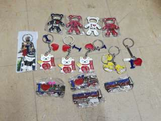Authentic Hong Kong keychains bottle opener and fridge magnets
