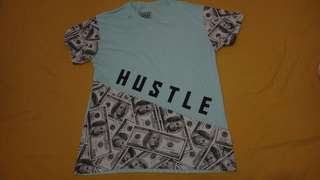 Hustle teal comfy shirt
