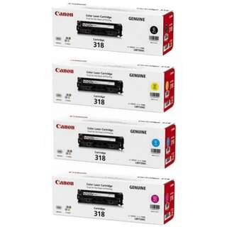 Sealed set Canon 318 ink for printer cartridge