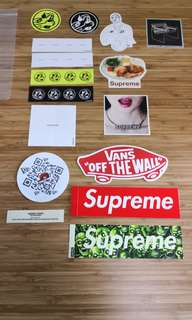 贴纸 supreme sticker