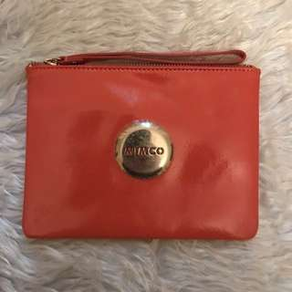 Mimco medium flamingo pink pouch