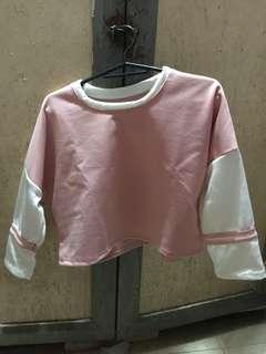 Salmon pink long sleeves