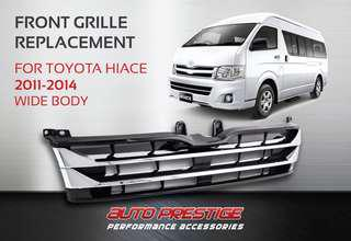 sport grille for highroof hiace 2010 -2013