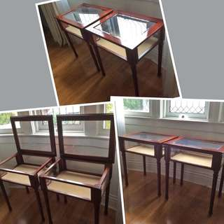 *****JUST REDUCED THE PRICE!!!!!!!!!! ***2 ABSOLUTELY STUNNING Collectable 1990's Bombay solid wood Curio tables**