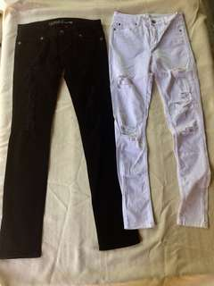 Guess Pants and HQ White Pants