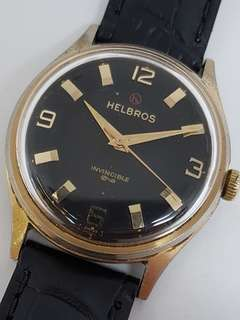Helbros Invincible Hand Winding Vintage Watch