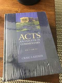 Acts (Exegetical Commentary) by Craig Keener