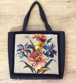 La Blanche Vintage purse handbag 古董 復古 懷舊 十字繡花 手袋
