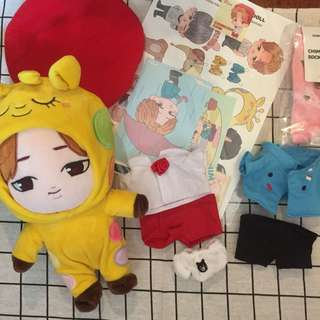 Bts jimin fansite doll set