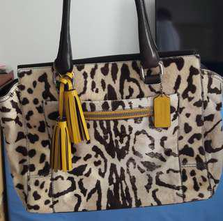 Priced to clear. COACH Limited Edition 21166 Legacy Ocelot Calf Hair Candace Carryall
