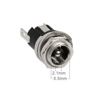 5.5mm x 2.1mm DC Power Jack Socket Female Panel Mounting Connector