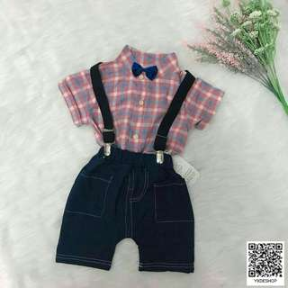 Checked Kids Shirt Set